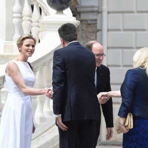 Their Serene Highnesses Prince Albert II and Princess Charlene of Monaco Welcome the President of Montenegro to Monaco. (VIDEO)