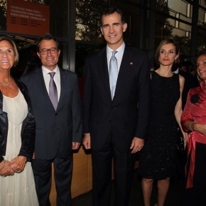 Their Majesties King Felipe VI and Queen Letizia of Spain Attend the 2014 Premios Fundación Príncipe de Girona.(VIDEOS)
