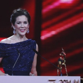 HRH Crown Princess Mary of Denmark Receives an Award.