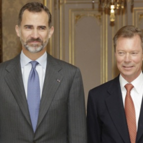 TMs King Felipe VI and Queen Letizia of Spain Visit Luxembourg.(VIDEOS)