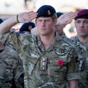 His Royal Highness Prince Harry of Wales Attends Remembrance Sunday Service in Afghanistan. (VIDEO)