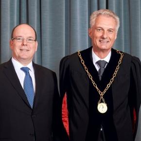 His Serene Highness Prince Albert II of Monaco Receives an HonoraryDoctorate.