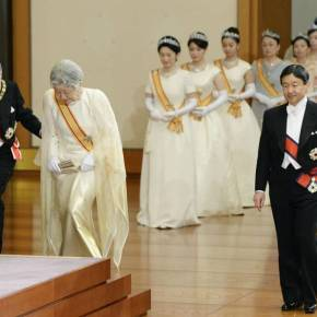 Their Imperial Majesties Emperor Akihito and Empress Michiko of Japan Host the 2015 New Year Greetings Ceremony. (VIDEOS)