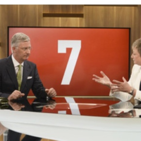(VIDEOS) TMs King Philippe and Queen Mathilde of Belgium Visit VRT.