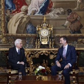 His Majesty King Felipe VI of Spain Meets with the President ofItaly.
