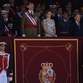 TMs King Felipe VI and Queen Letizia of Spain Preside Over a Ceremony at El Pardo.