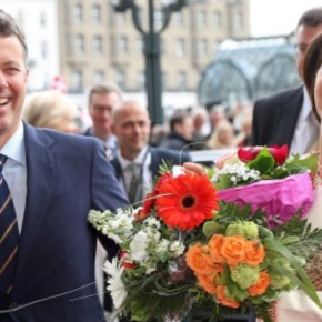 (VIDEOS) The Crown Prince Couple of Denmark Visit Hamburg, Germany.