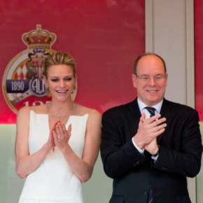 The Princely Couple of Monaco Attend the 73rd Edition of the Grand Prix de Monaco.