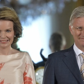 TMs King Philippe and Queen Mathilde of Belgium Attend an Award Ceremony.