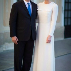 TSHs Prince Albert II and Princess Charlene of Monaco Host a Cocktail Party.