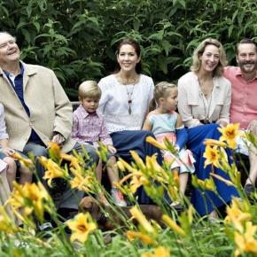 Members of the Danish Royal Family Pose for thePress.