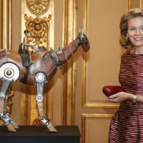 HM Queen Mathilde of Belgium Inaugurates anExhibition.