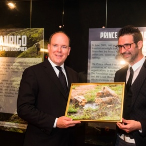 His Serene Highness Prince Albert II of Monaco Views an Exhibition at the Galerie des Pêcheurs.