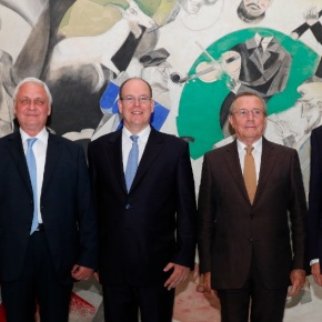 HSH Prince Albert II of Monaco Inaugurates a New Exhibit.