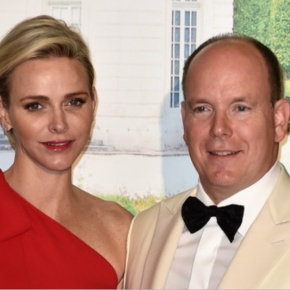TSHs Prince Albert II and Princess Charlene of Monaco Attend a Gala.