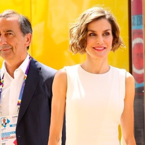 (VIDEO) Her Majesty Queen Letizia of Spain Visits the Milan Expo.