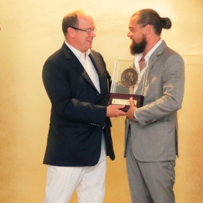 HSH Prince Albert II of Monaco Presents An Award to Mr. Leonardo DiCaprio.