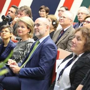 HM Queen Mathilde if Belgium Attends a Meeting at the University ofAntwerp.
