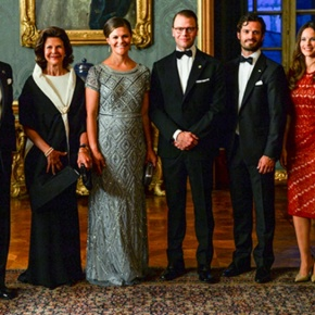 Members of the Swedish Royal Family Attend the Sverigemiddag.