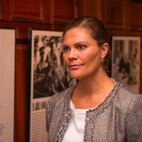 HRH Crown Princess Victoria of Sweden Opens an Exhibition.