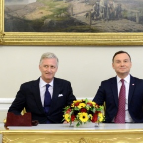 (VIDEO) TMs King Philippe and Queen Mathilde of Belgium Visit Warsaw,Poland.