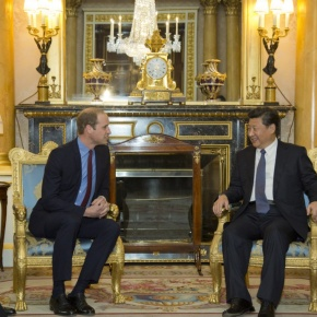 HRH The Duke of Cambridge Meets with the President ofChina.