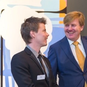 HM King Willem-Alexander of the Netherlands Attends an Award Ceremony.