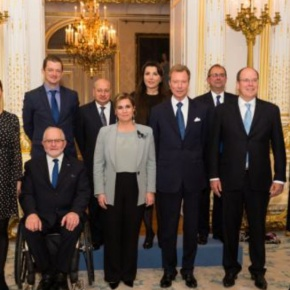 HSH Prince Albert II of Monaco Participates a Meeting in Luxembourg.