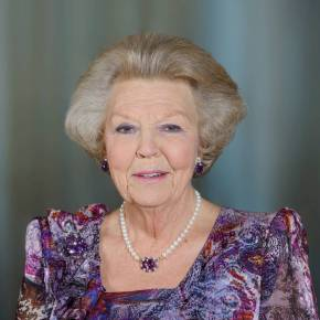 HRH Princess Beatrix of the Netherlands Attends a Celebration in Haarlem.