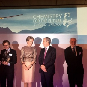 HM Queen Mathilde of Belgium Attends the 2015 Chemistry for the Future Solvay Prize.