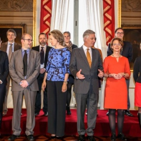 TMs King Philippe and Queen Mathilde of Belgium Participate in a Roundtable Discussion.