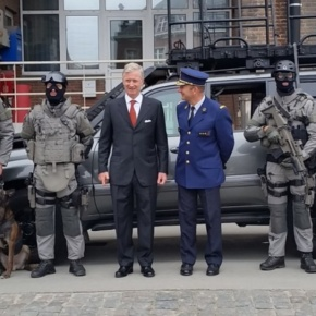 (VIDEO) His Majesty King Philippe of Belgium Visits the Police Fédérale.