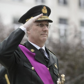 (VIDEO) HM King Philippe of Belgium Participates in a Ceremony at the Colonne du Congrès