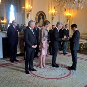 TMs King Philippe and Queen Mathilde of Belgium Preside Over a Special Ceremony at the Palais Royal.  Plus, Other News.