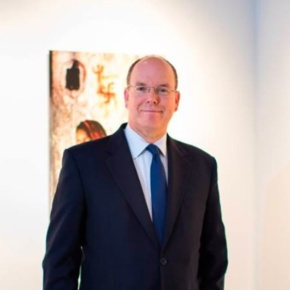 HSH Prince Albert II of Monaco Views an Exhibition in Monte-Carlo.