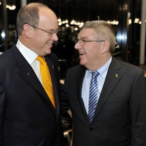 HSH Prince Albert II of Monaco Attends an Award Ceremony in Switzerland.