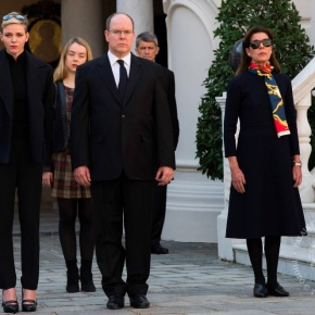 (VIDEOS) Members of the Princely Family of Monaco Observe a Moment ofSilence.