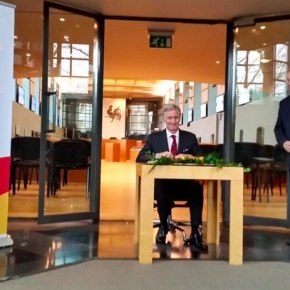 His Majesty King Philippe of Belgium Visits the Walloon Parliament.