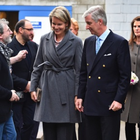 (VIDEO) TMs King Philippe and Queen Mathilde of Belgium Visit a CharityOrganization.