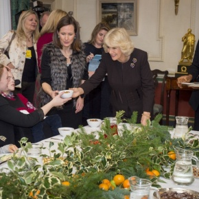 (VIDEO) HRH The Duchess of Cornwall Hosts a Christmas Luncheon at ClarenceHouse.