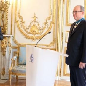 HSH Prince Albert II of Monaco Receives the Médaille de Commandeur du MériteMaritime.