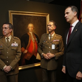 His Majesty King Felipe VI of Spain Inaugurates an Exhibition at Casa de América.