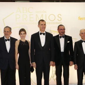 TMs King Felipe VI and Queen Letizia of Spain Attend an Award Ceremony in Madrid.