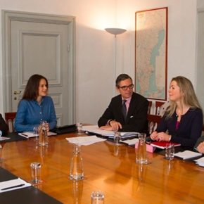 TRHs Prince Carl Philip and Princess Sofia of Sweden Participate in a Board Meeting.
