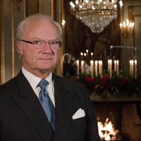 His Majesty King Carl XVI Gustaf of Sweden Delivers His Christmas Message on Sveriges Radio.