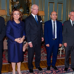 HM King Carl XVI Gustaf and Crown Princess Victoria of Sweden Meet with the 2015 Nobel Peace Prize Winners.