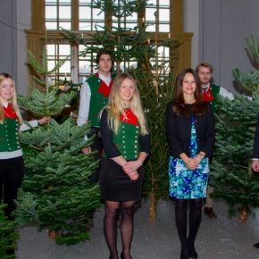 TRHs Prince Carl Philip and Princess Sofia of Sweden Receive Christmas Trees.