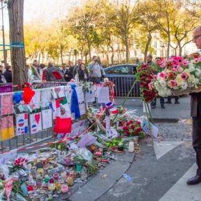 (VIDEOS) HSH Prince Albert II of Monaco Visits the Bataclan in Paris, France.