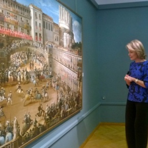 HM Queen Mathilde of Belgium Views an Exhibition at the Musée d'Ixelles.
