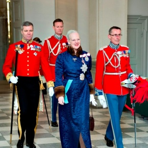 HM Queen Margrethe II of Denmark Hosts a Reception at Christiansborg Slot.